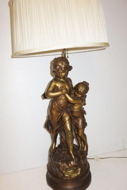 Hip Moreau bronze lamp - 7
