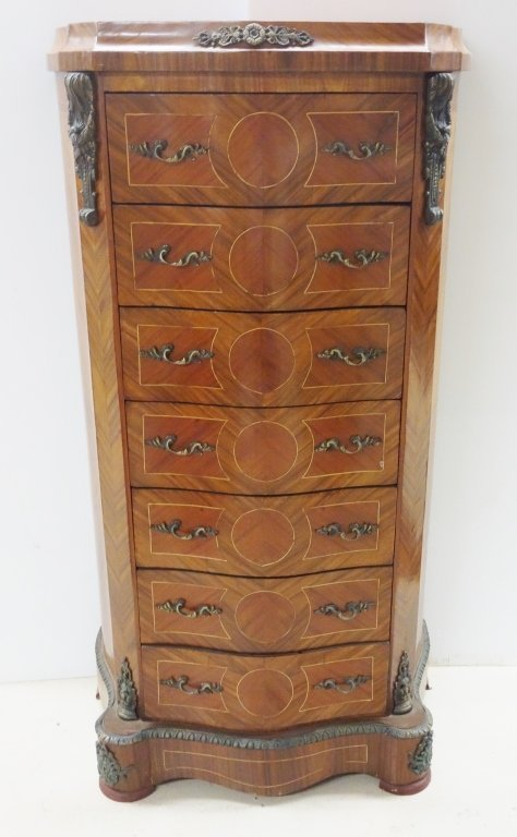 French style Inlaid  7 drawer dresser