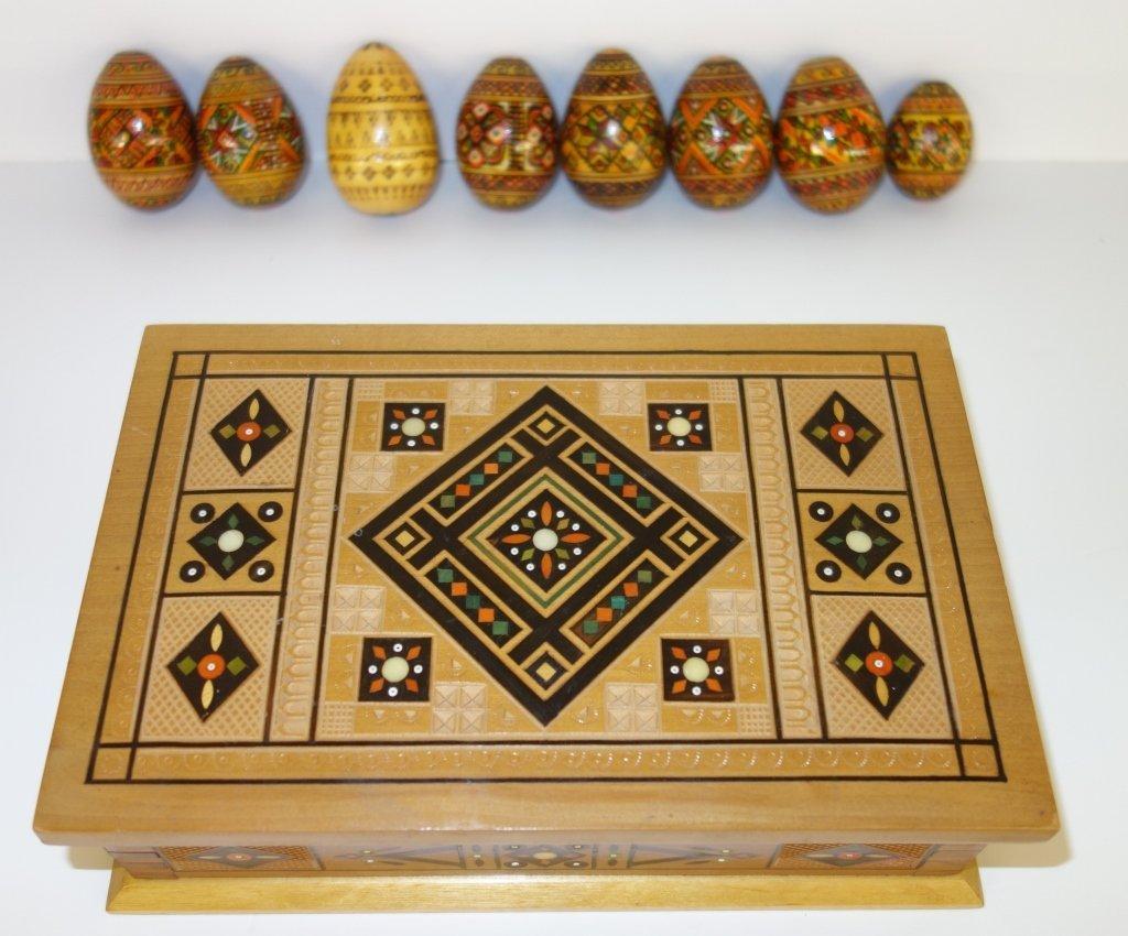 Ukrainian Pysanka hand painted wooden eggs