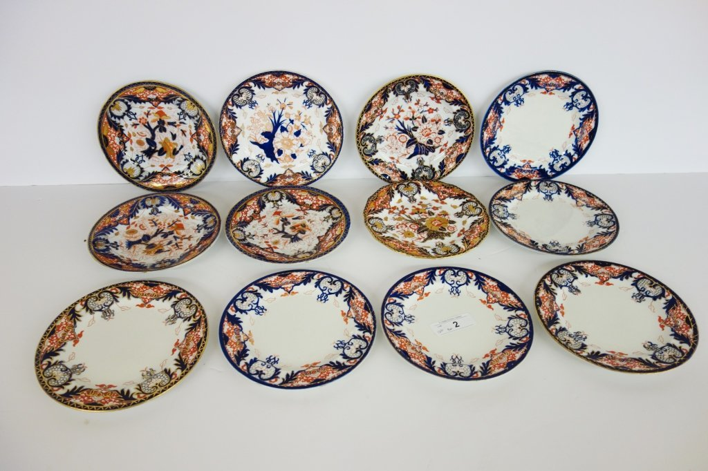 12 Royal Crown Derby, Coal Port plates
