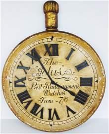 Large wood pocket watch display