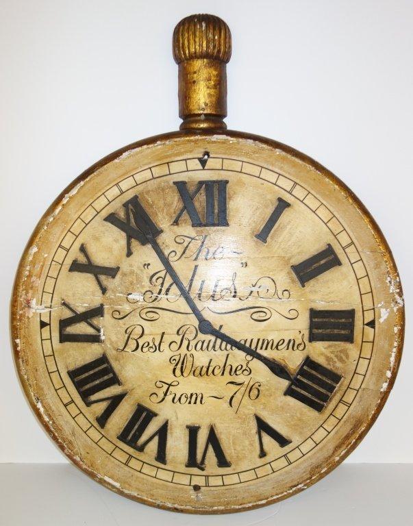 Large wood pocket watch display - 5