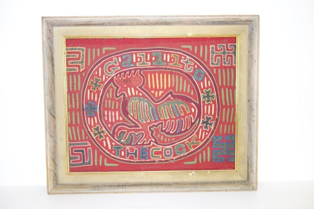 Late 19th/ early 20th century folk art needlepoint
