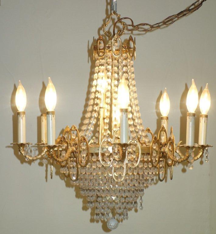 Vintage crystal hanging chandelier