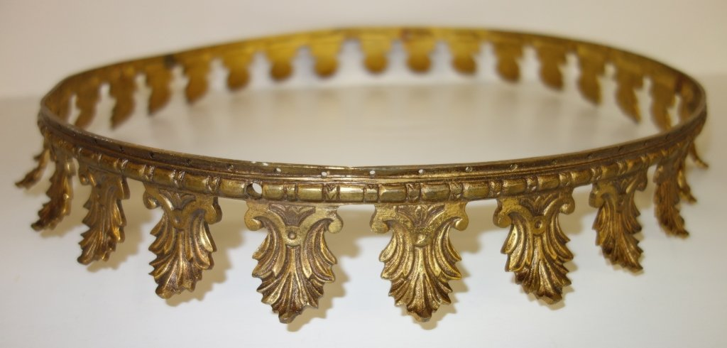 Vintage bed canopy crown
