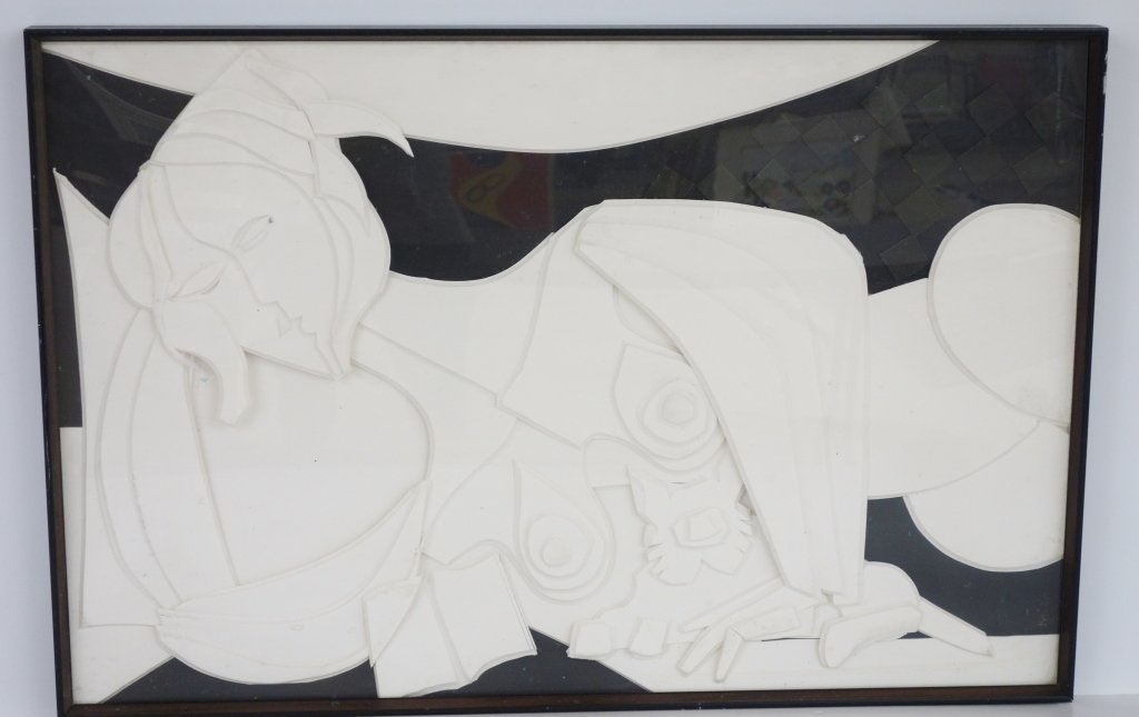 Mixed media reclining nude by William Reilly