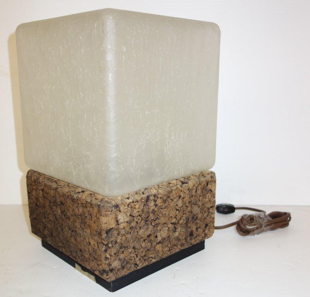 Cork base modern lamp