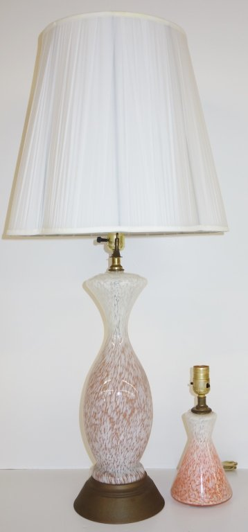 2 Murano style lamps