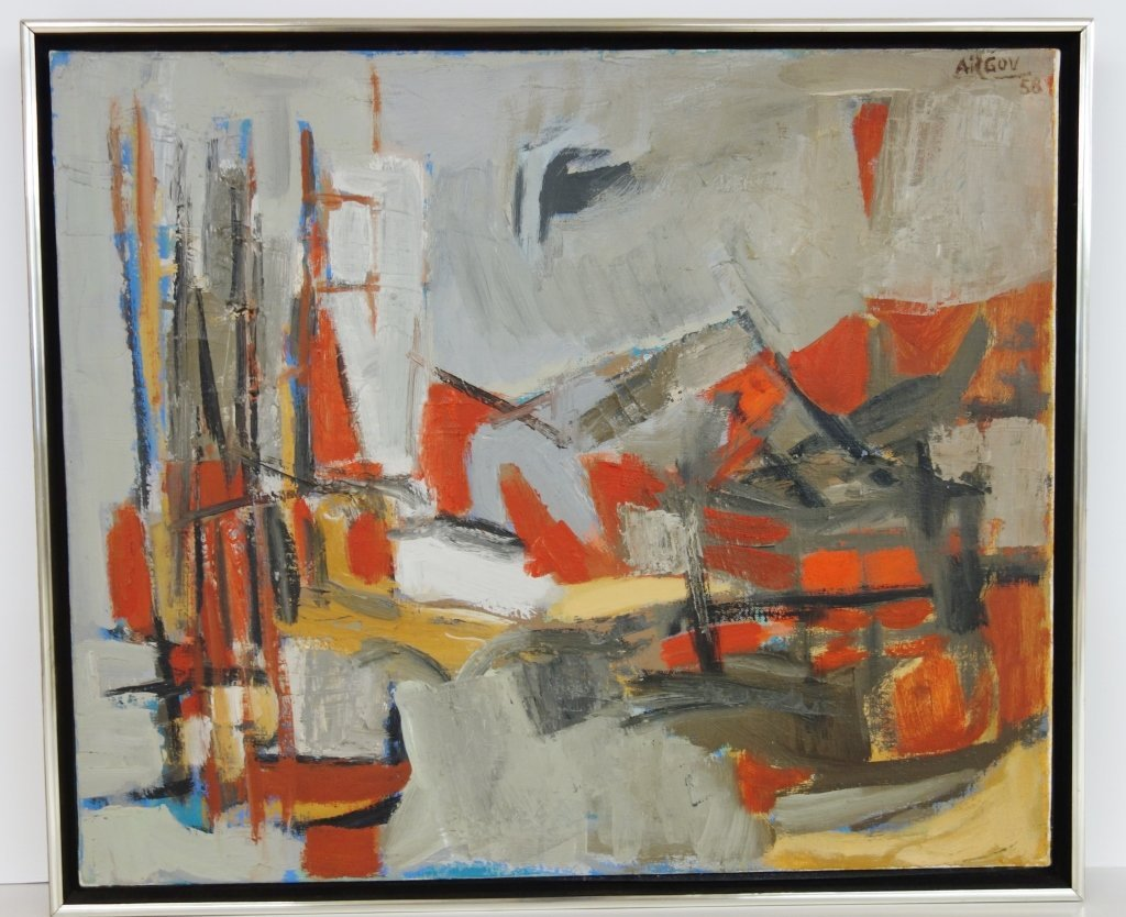 Oil on canvas abstract by Michael Argov
