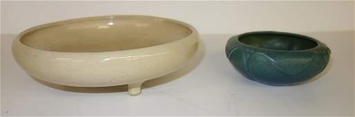2 Vintage studio pottery -Rookwood, Fulper