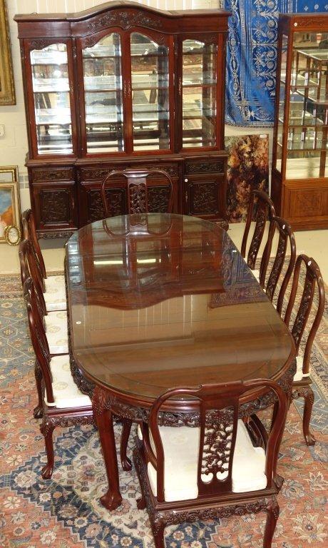 Beautiful ornate Oriental dining room set