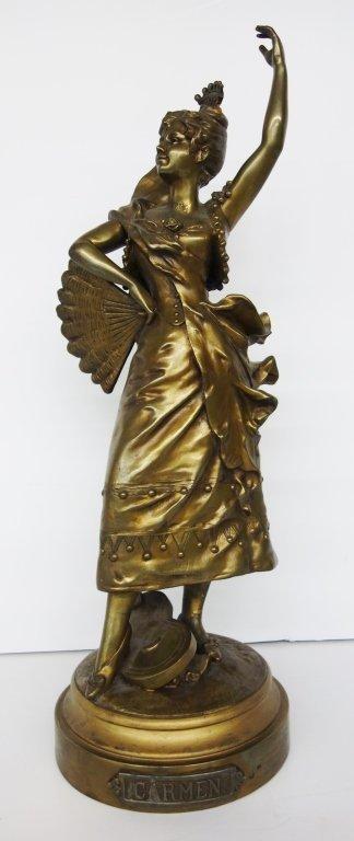 Large bronze woman statue