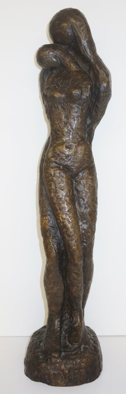 Woman nude bronze statue