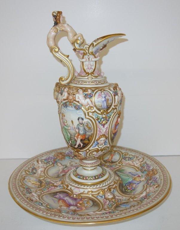 Original Richard Ginori pitcher & plate