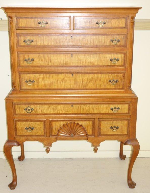 2 piece highboy dresser by Mayflower Colonial Shop
