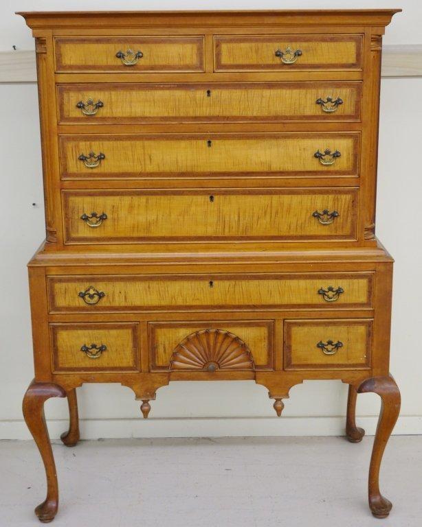 2 piece highboy dresser by Mayflower Colonial Shop - 3