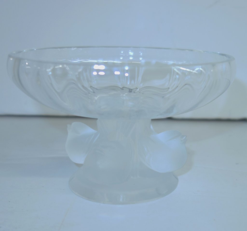 Lalique bowl with birds