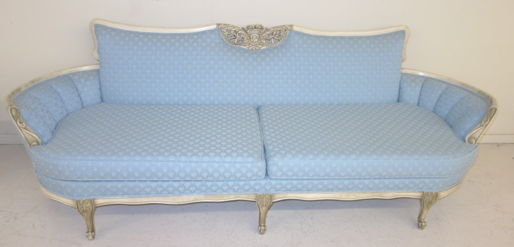 French provincial style Blue couch