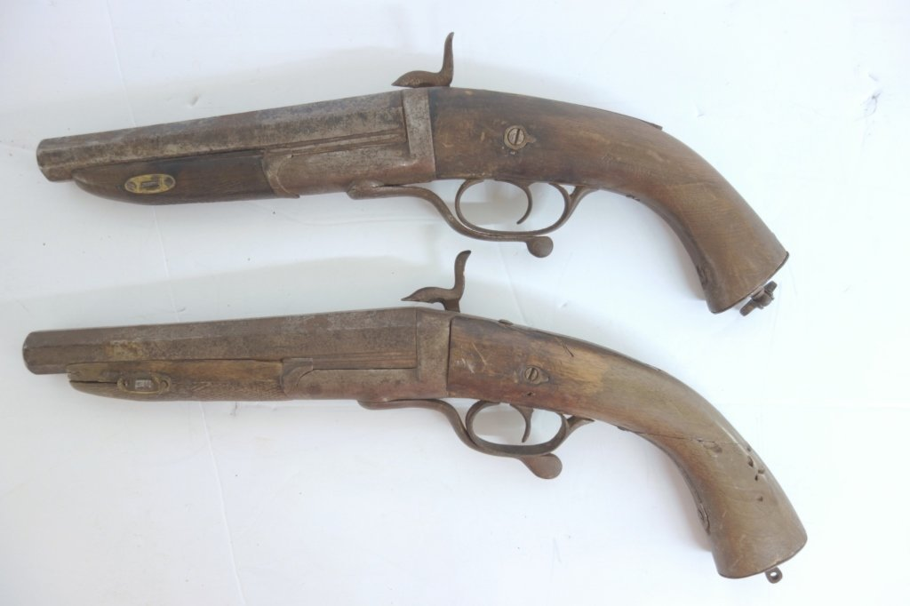Pair of 1800's dueling pistols