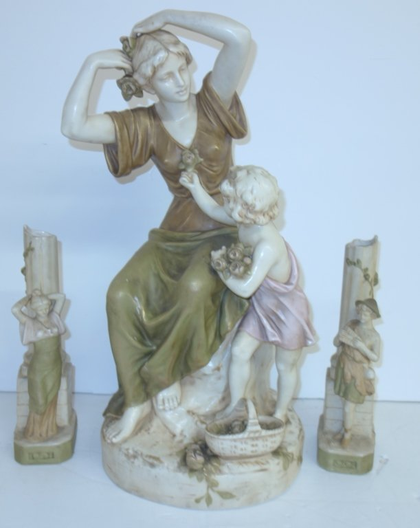 3 pc. Royal Dux statues