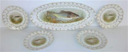 5 piece Bavaria fish plates  platter
