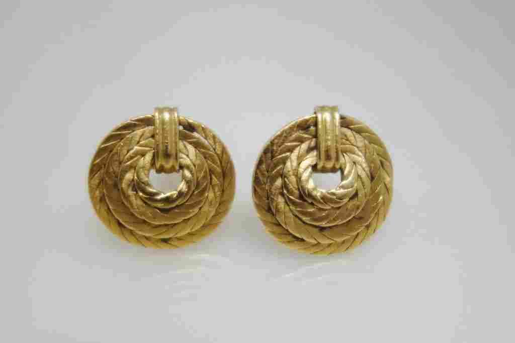 Buccellati 18k gold cufflinks