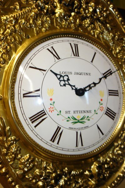 Louis Jaquine St. Etienne wall hanging gilded clock - 3