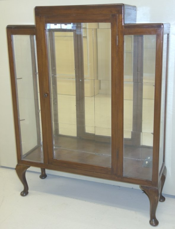 Glass curio display cabinet