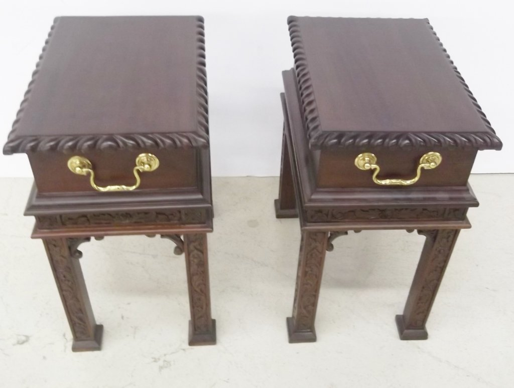 2 small Oriental style stands