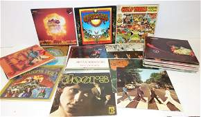 35 assorted rock 'n roll record albums