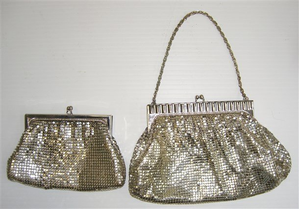 2 vintage Whiting & davis Silver Mesh Evening Bags