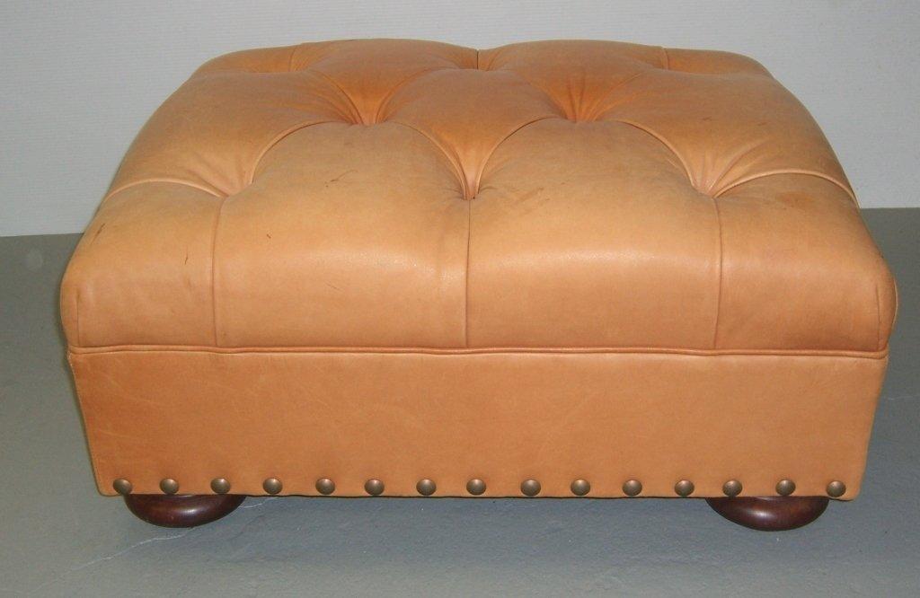 Ralph Lauren leather ottoman