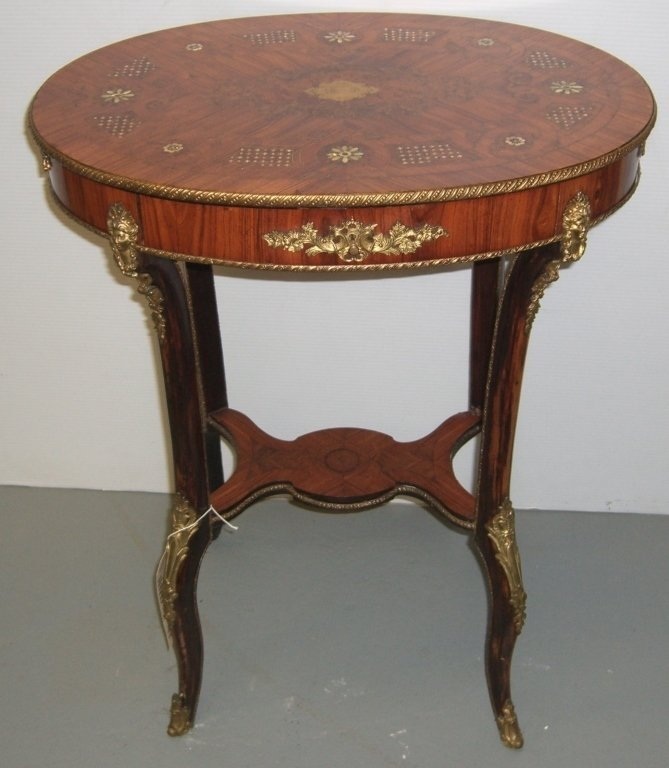 MOP inlaid oval stand