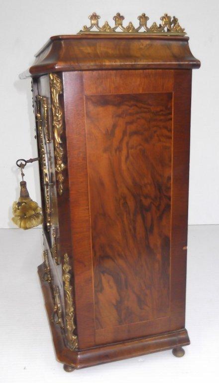 Porcelain mounted French locking miniature cabinet - 4