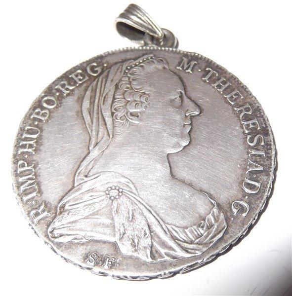 1780 MARIA THERESIA BUST Austria  silver coin