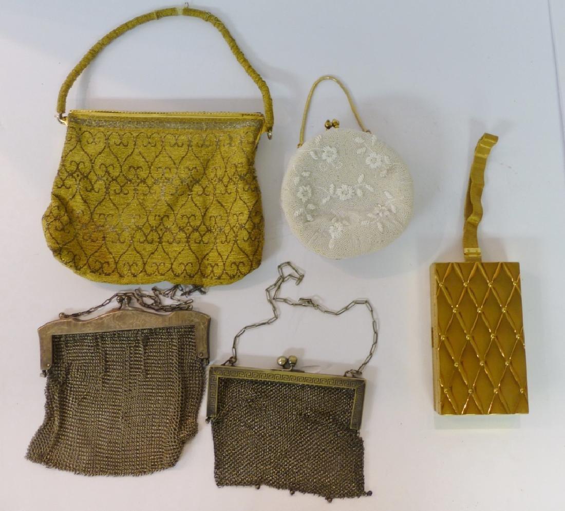 Vintage purses & compact