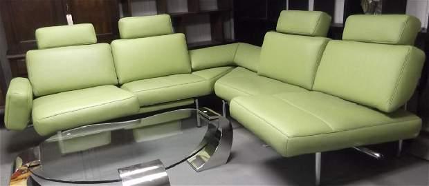 De Sede Switzerland Green modern leather sofa