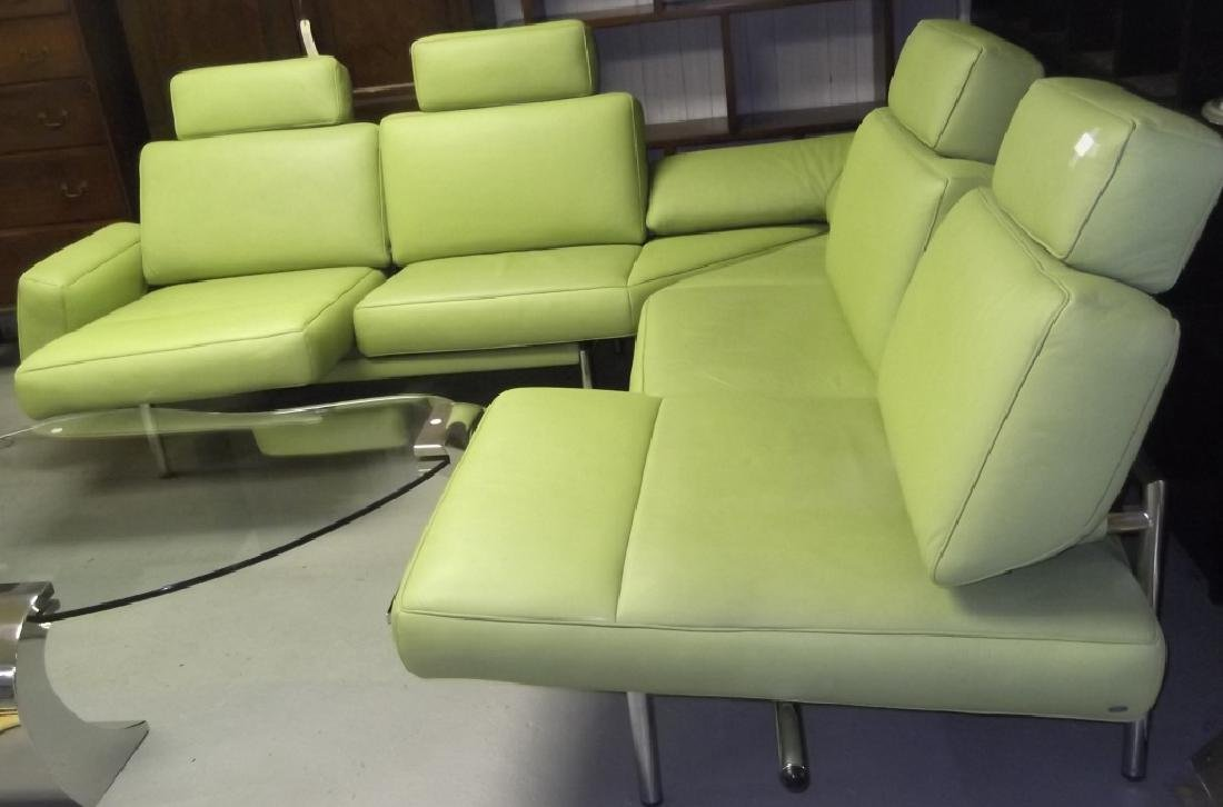 De Sede Switzerland Green modern leather sofa - 3