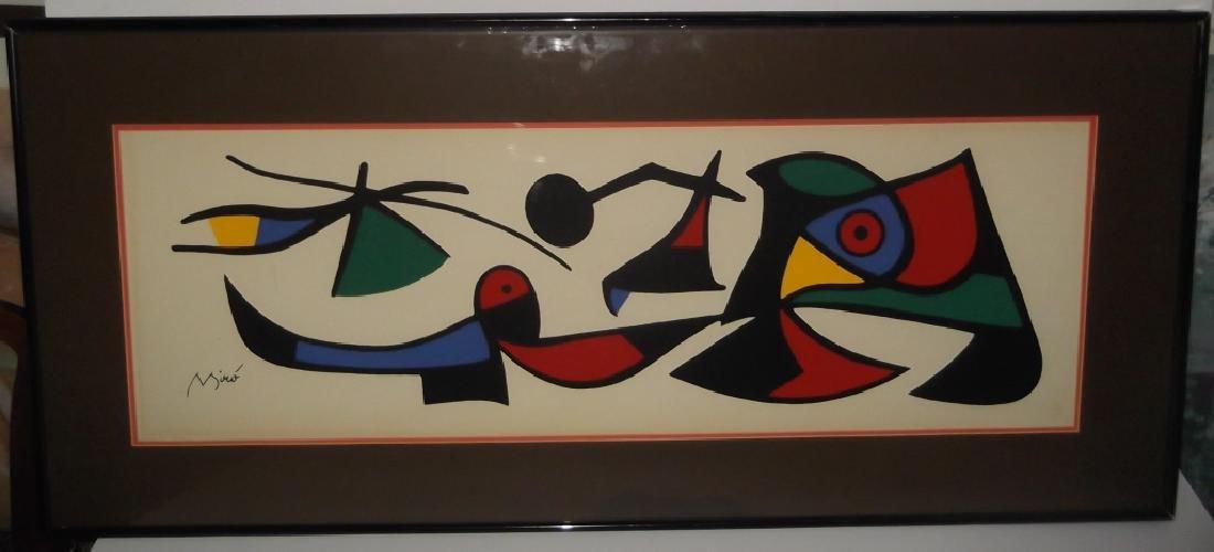 Miro abstract lithograph