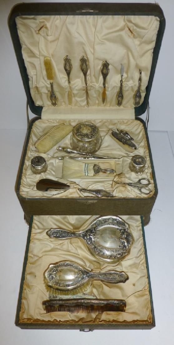 Antique Victorian Vanity Dresser Set
