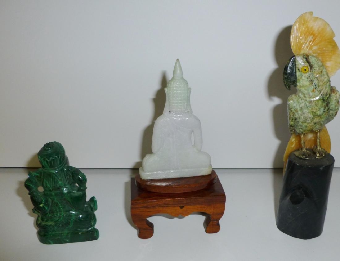 3 piece carved figures
