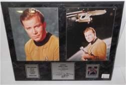 William shatner Cpt Kirk signed photo