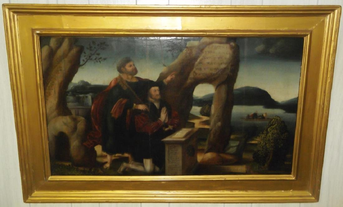 15th or 16th century Antique painting on panel