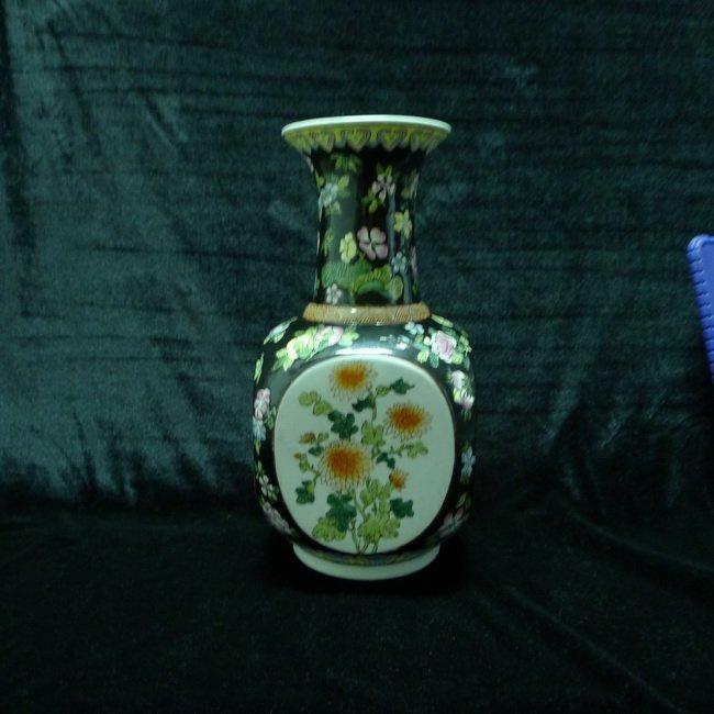A Chinese Antique Famille Noire Susancai Vases
