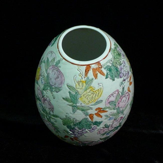 A Chinese famille rose olives vase - 5