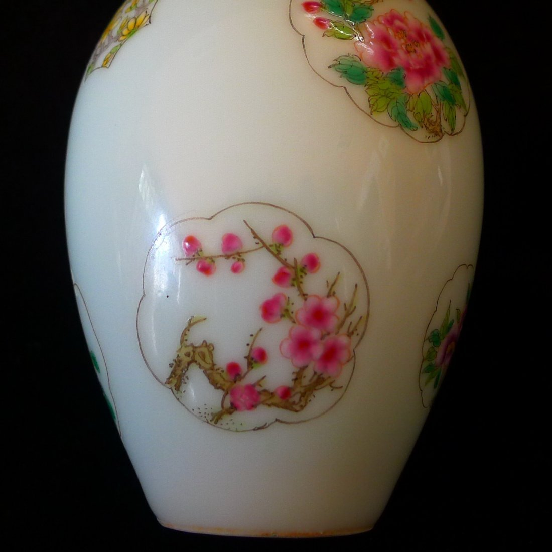 Pair of Chinese Famille Rose Bottle