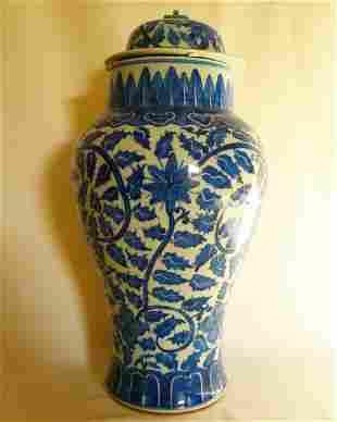 Chinese Antique Blue & White Porcelain Vase