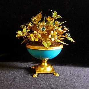 Nineteenth century European A GILT flowerpot