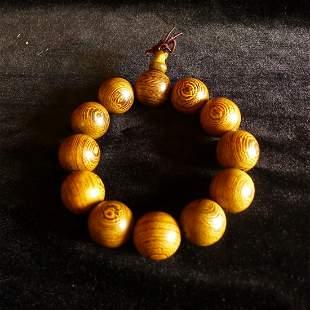 Chinese Redwood prayer beads Bracelet