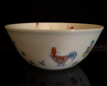 Qing Period Chinese Chicken Wine Cup